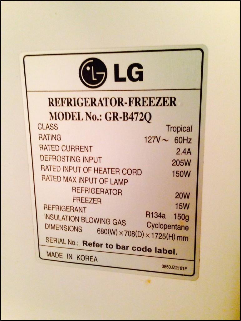 Average Refrigerator Wattage Use