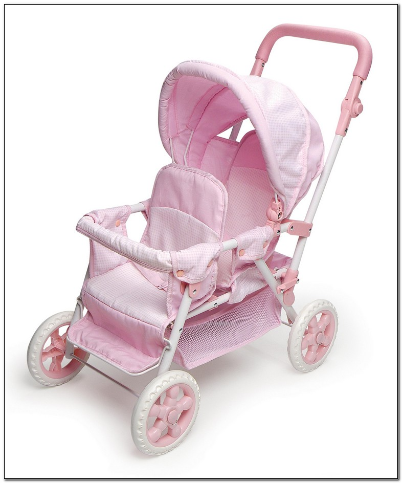 Baby Doll Double Stroller Set