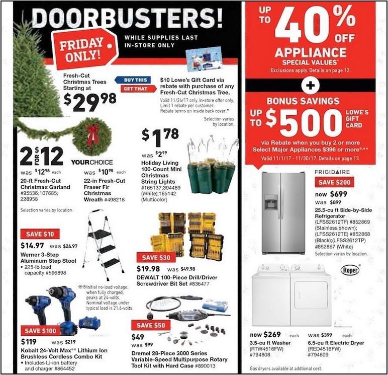 Black Friday Refrigerator Deals 2017 Lowes
