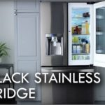 Black Stainless Steel Refrigerator Magnets