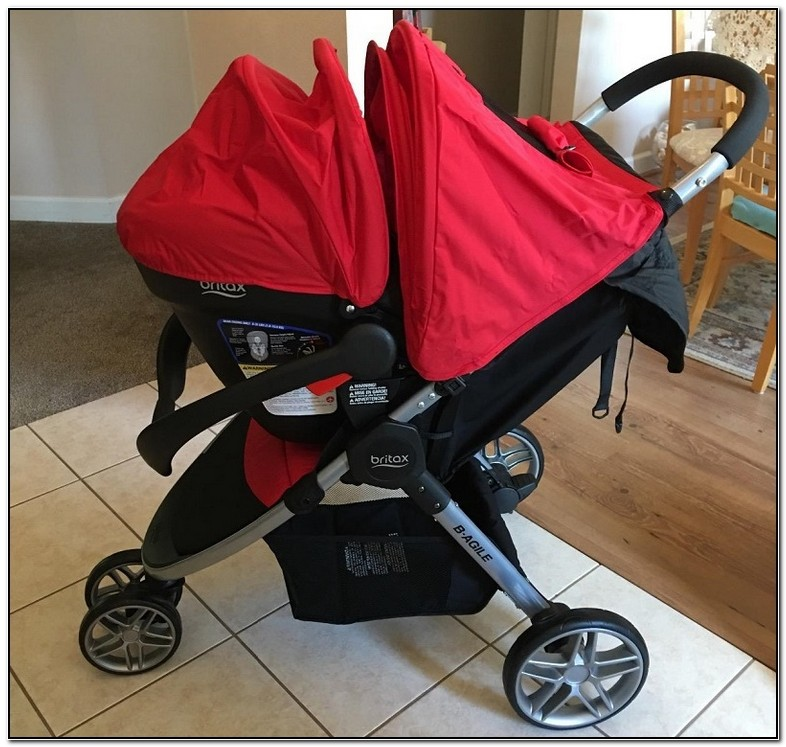 Britax Red Stroller And Carseat