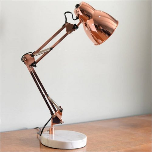 Copper Rose Gold Desk Lamp