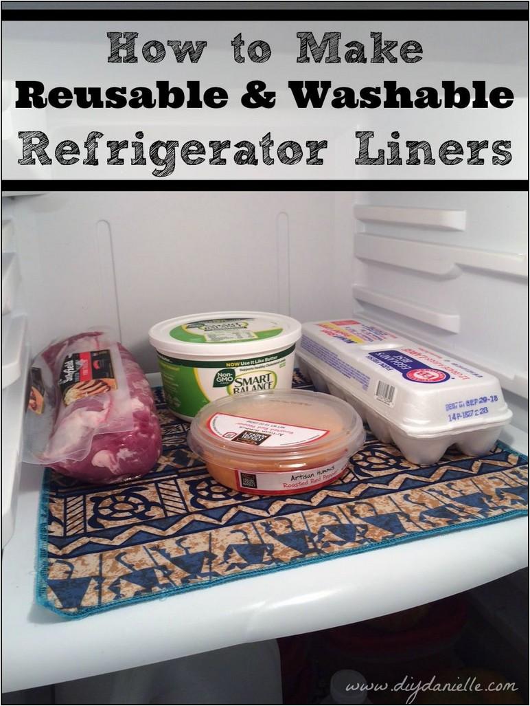 Diy Refrigerator Shelf Liners