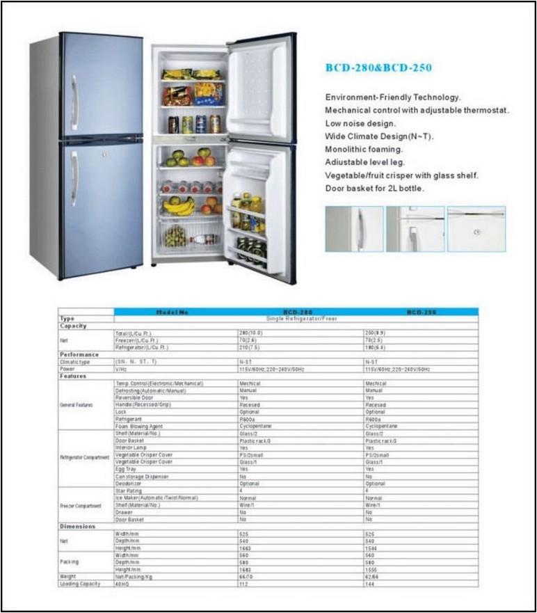 Double Door Refrigerator Measurements
