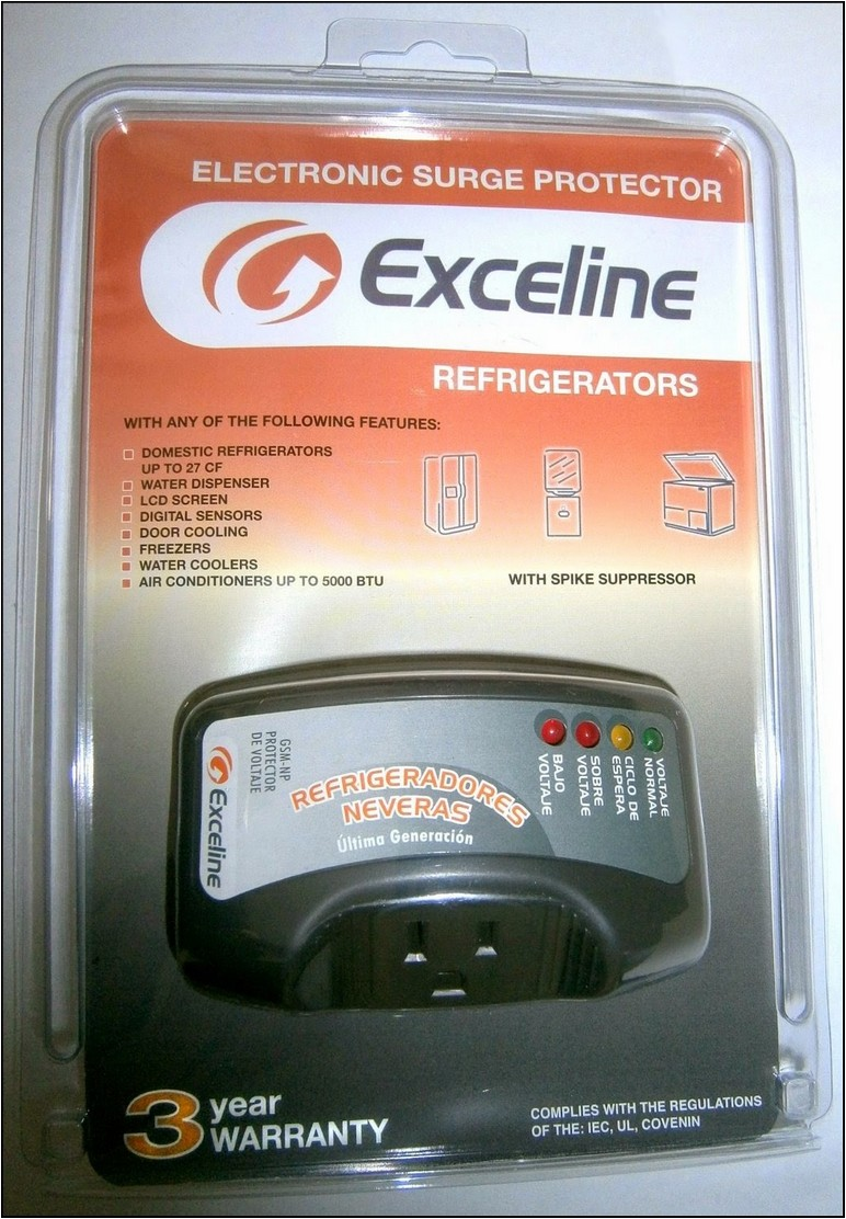 Exceline Surge Protector For Refrigerator
