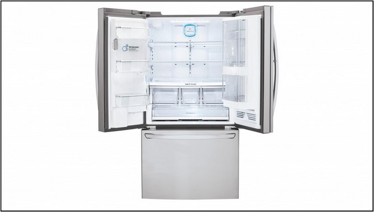 French Door Bottom Freezer Refrigerator With Ice Maker