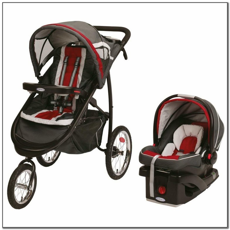 Graco Click Connect Jogging Stroller And Carseat