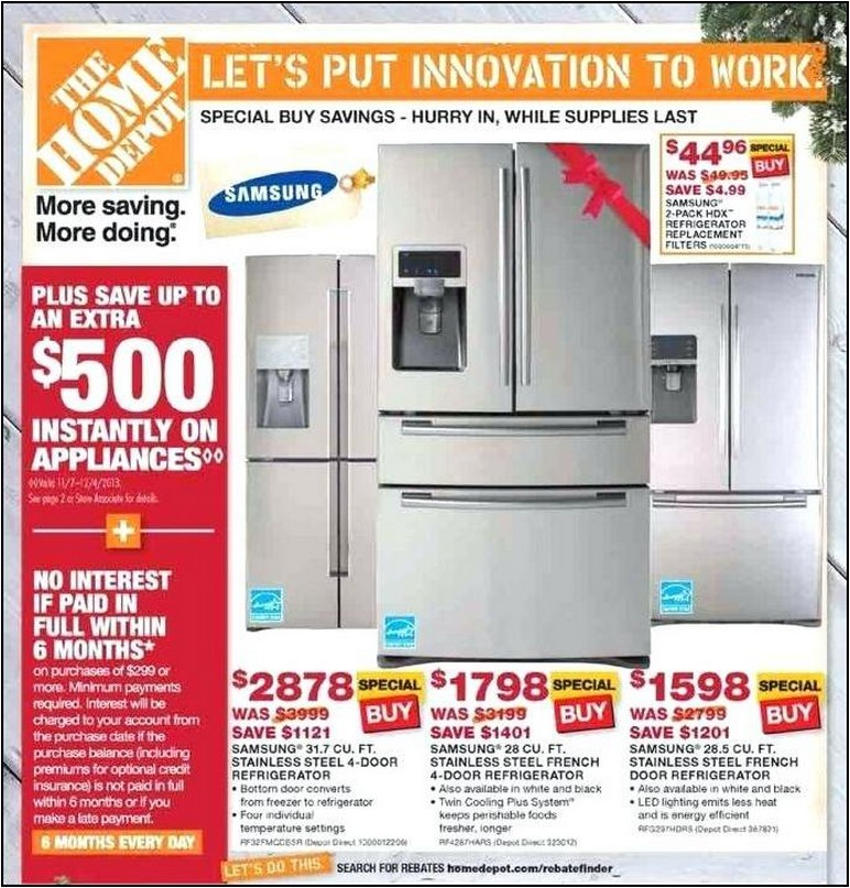 Home Depot Refrigerator Sale Prices