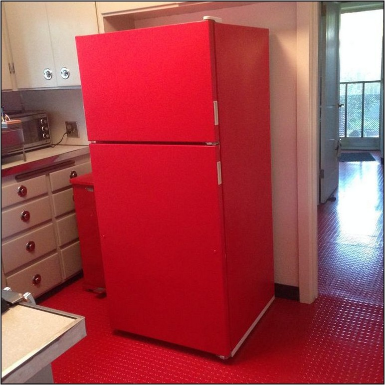 How To Paint A Refrigerator Red