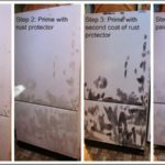 How To Paint A Refrigerator With Rust
