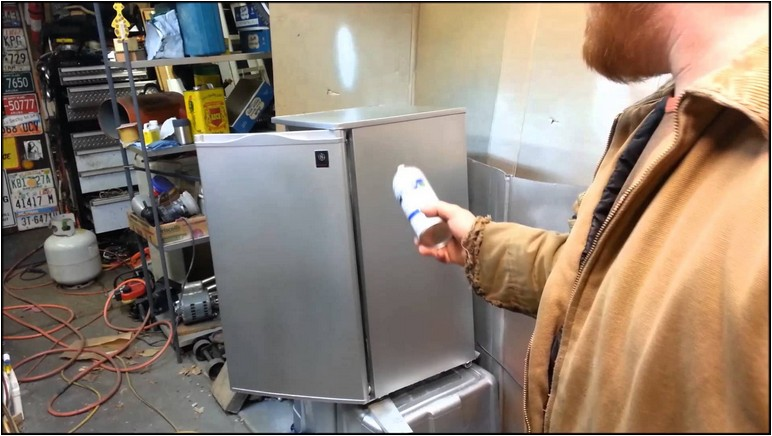 How To Paint A Refrigerator Youtube