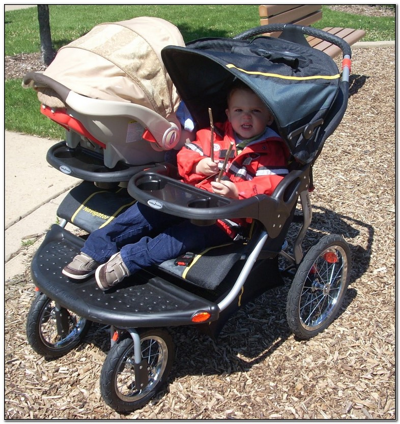 Jogging Double Stroller For Infant And Toddler