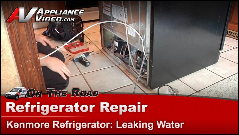 Kenmore Refrigerator Troubleshooting Water Leak