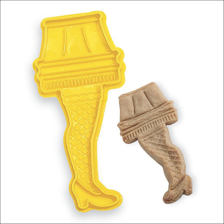 Leg Lamp Cookie Cutter Metal