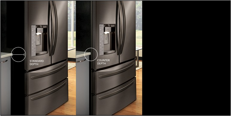 Lg 33 Inch Counter Depth Refrigerator