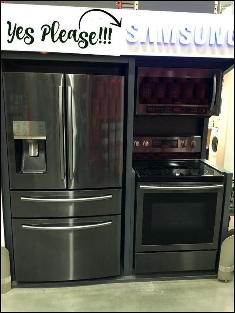 Lowes Black Stainless Refrigerator