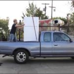 Moving A Refrigerator In A Truck