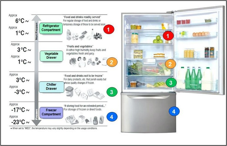 Optimal Refrigerator And Freezer Temperatures