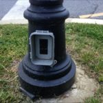 Outdoor Lamp Post With Electrical Outlet