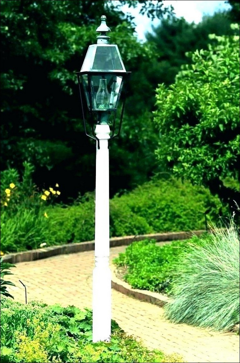 Outdoor Lamp Post With Outlet And Photocell