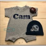 Personalized Dallas Cowboys Baby Clothes