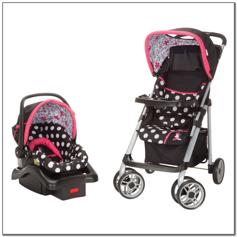 Pink Minnie Mouse Car Seat And Stroller