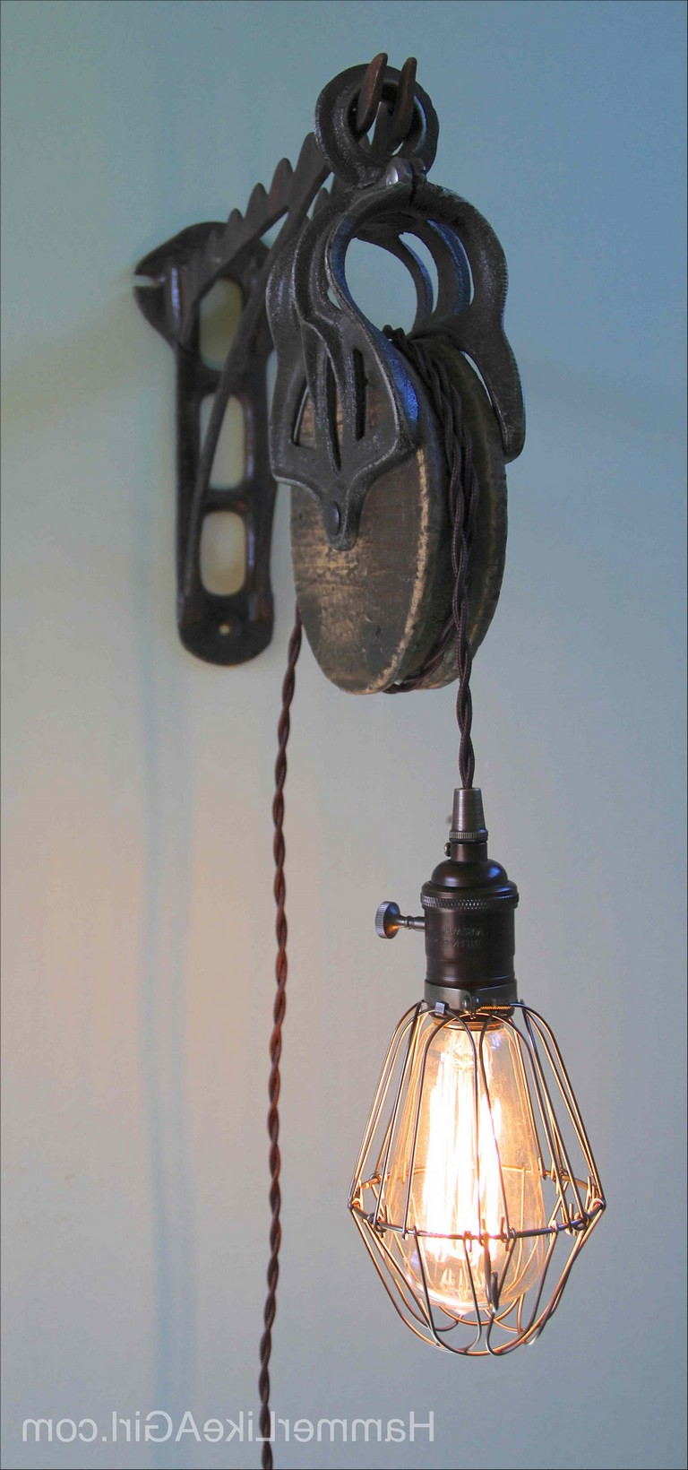 Pulley Lamp Diy