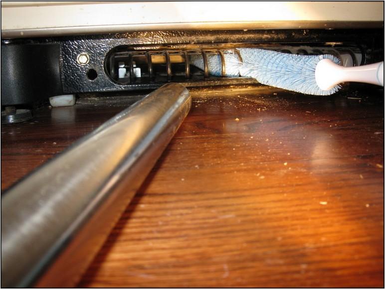 Refrigerator Coil Brush Vacuum Attachment