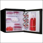 Refrigerator Only No Freezer Black