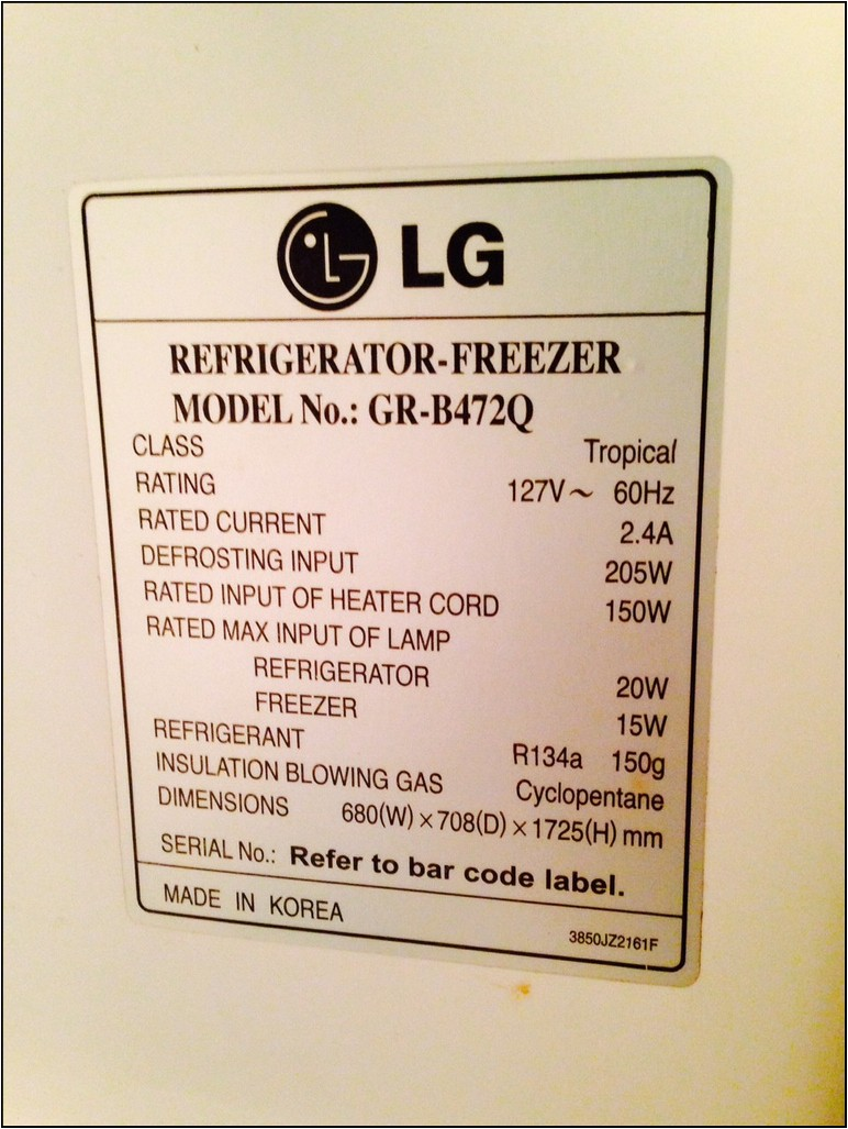 Refrigerator Wattage Requirements