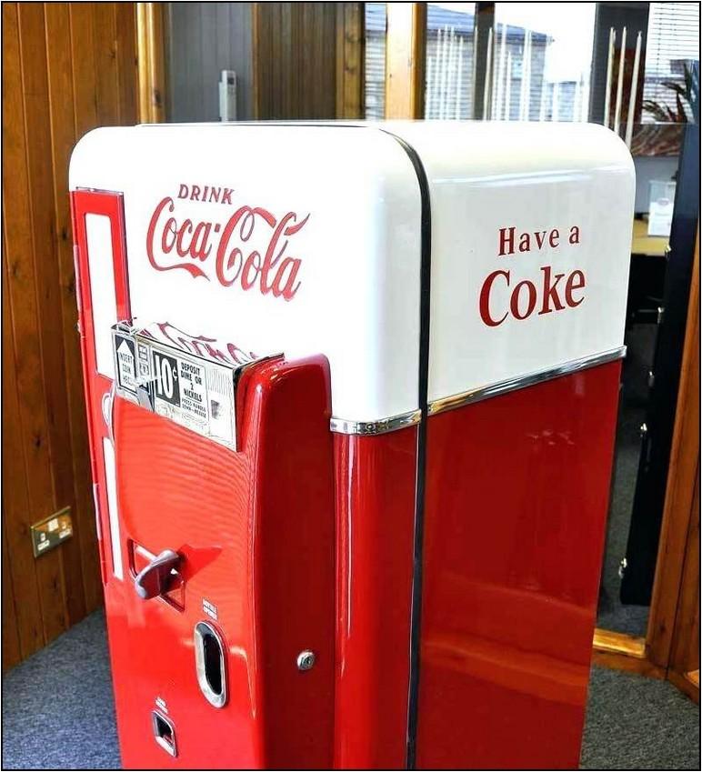 Retro Coke Refrigerator For Sale