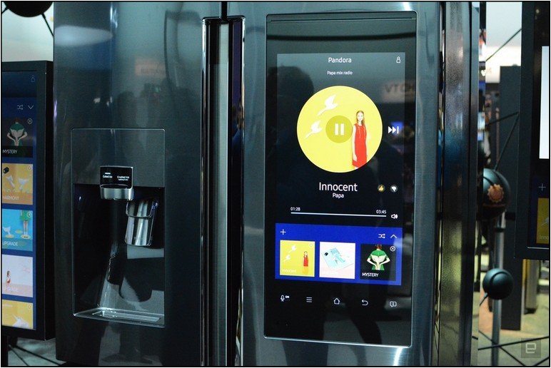Samsung Refrigerator With Smart Screen