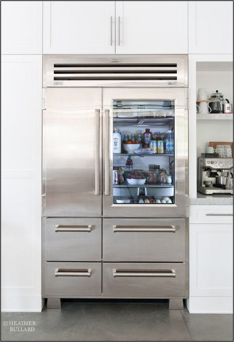 Sub Zero Pro 48 Glass Door Refrigerator For Sale