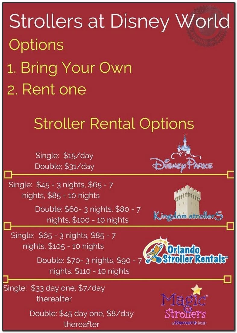 Walt Disney World Stroller Rental Tips