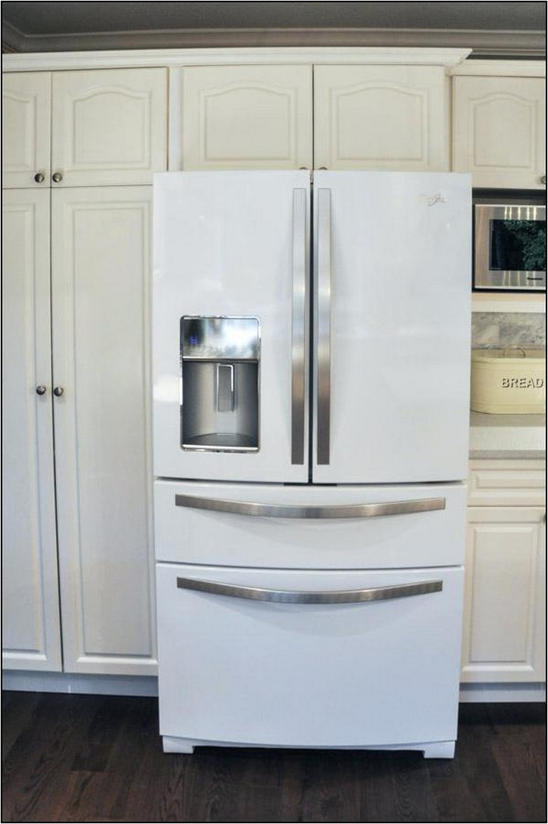 Whirlpool White Ice Counter Depth French Door Refrigerator