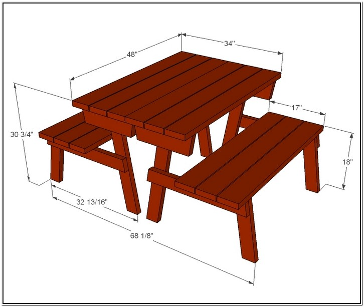 Average Picnic Table Dimensions