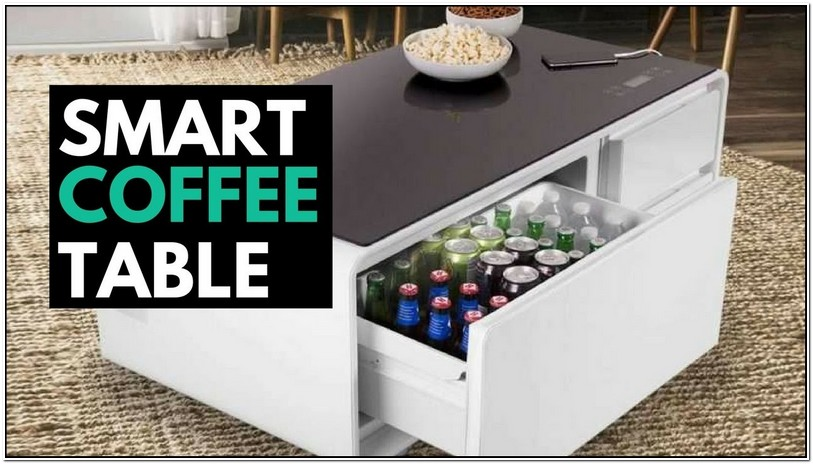 Coffee Table With Fridge Built In