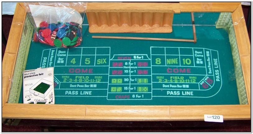 Mini Craps Table For Sale