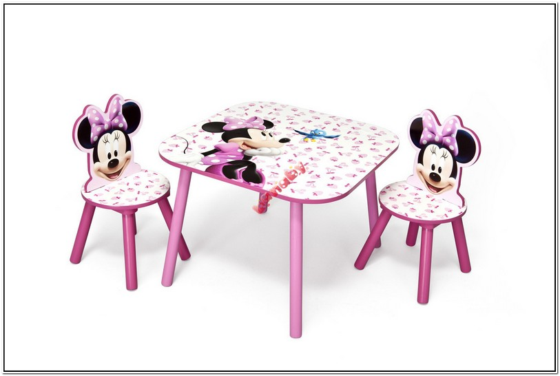 Minnie Mouse Table And Chairs B&m