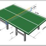 Ping Pong Table Dimensions In Meters