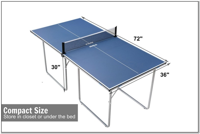 Ping Pong Table Dimensions Inches