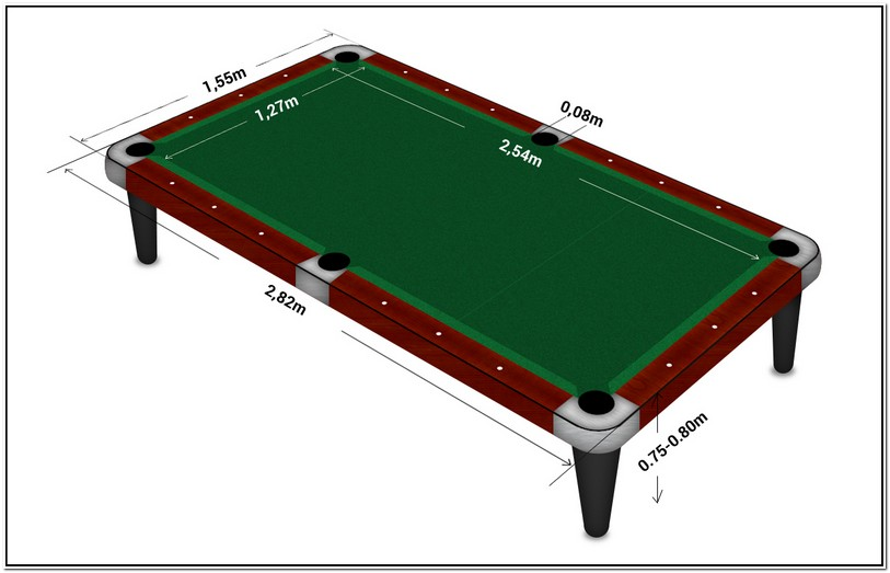Regulation Pool Table Size Inches