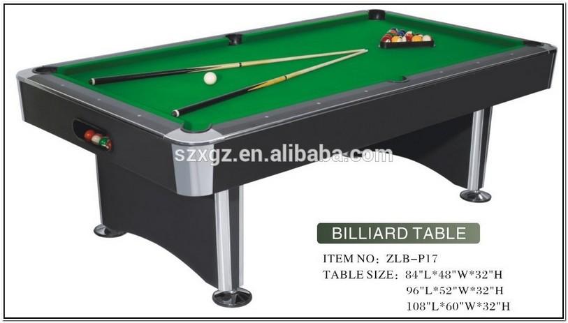 Regulation Pool Table Size U S