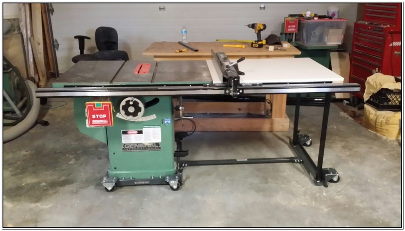 Shop Fox Table Saw Mobile Base