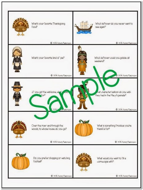 Table Topics Ideas Thanksgiving