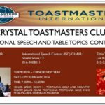 Table Topics Ideas Toastmasters International