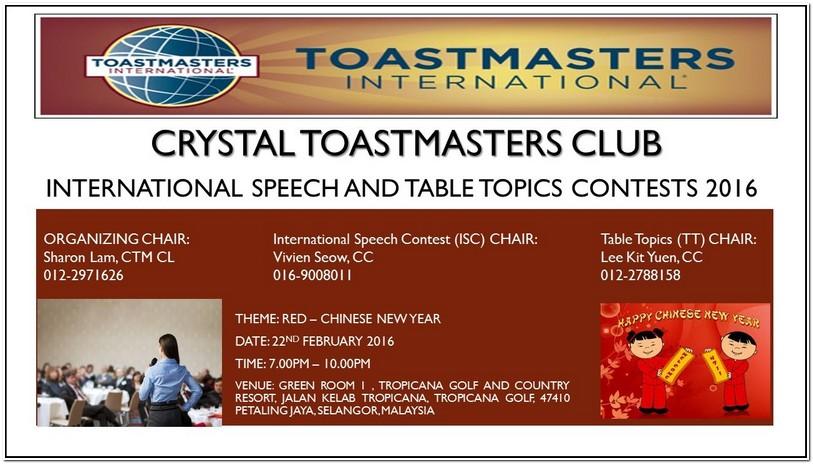Table Topics Ideas Toastmasters International