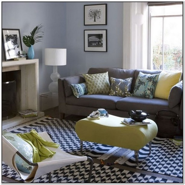 What Colour Goes With Grey Sofa