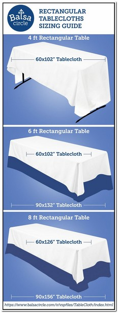 What Size Tablecloth Do I Need For A 6 Foot Banquet Table