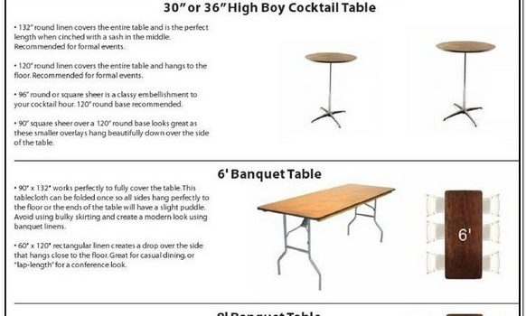 What Size Tablecloth For 6 Foot Table Floor Length